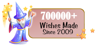 700000 Wishes made on this website since 2009